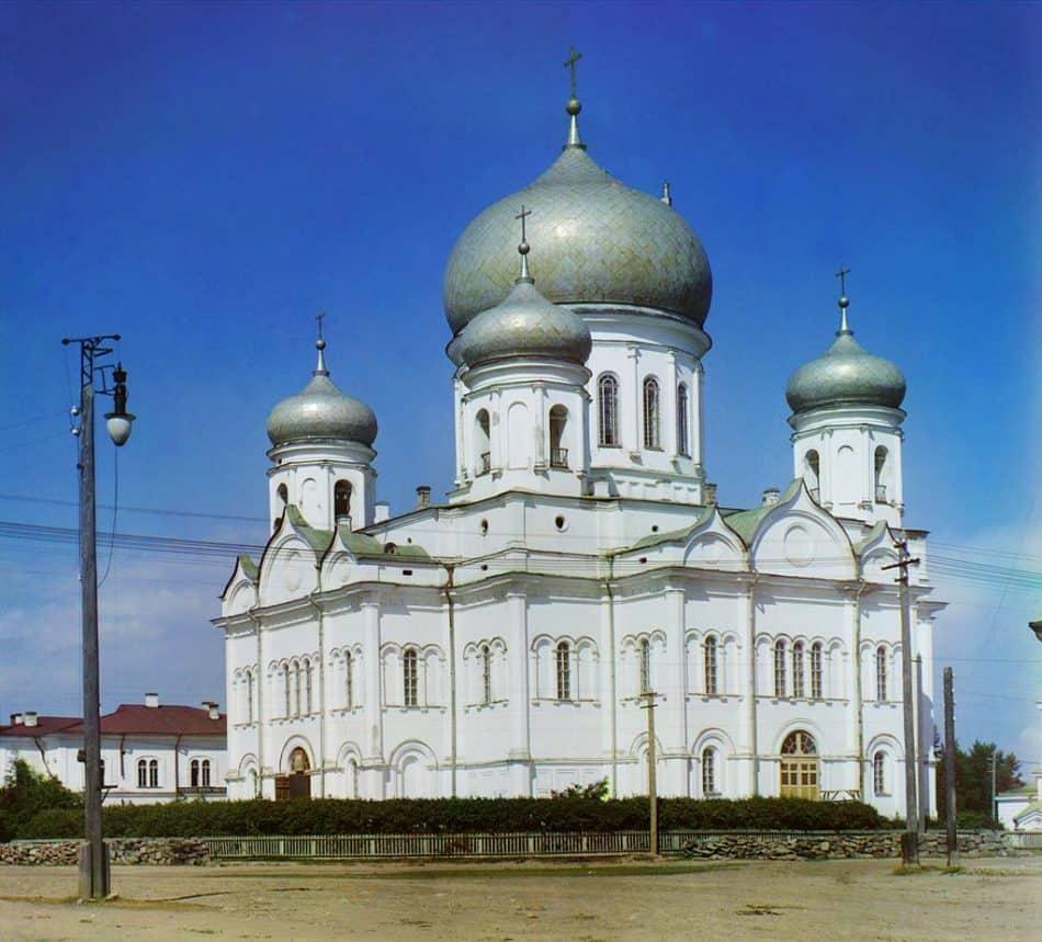 С.М. Прокудин-Горский. Кафедральный Святодуховской собор в Петрозаводске. 1916 год