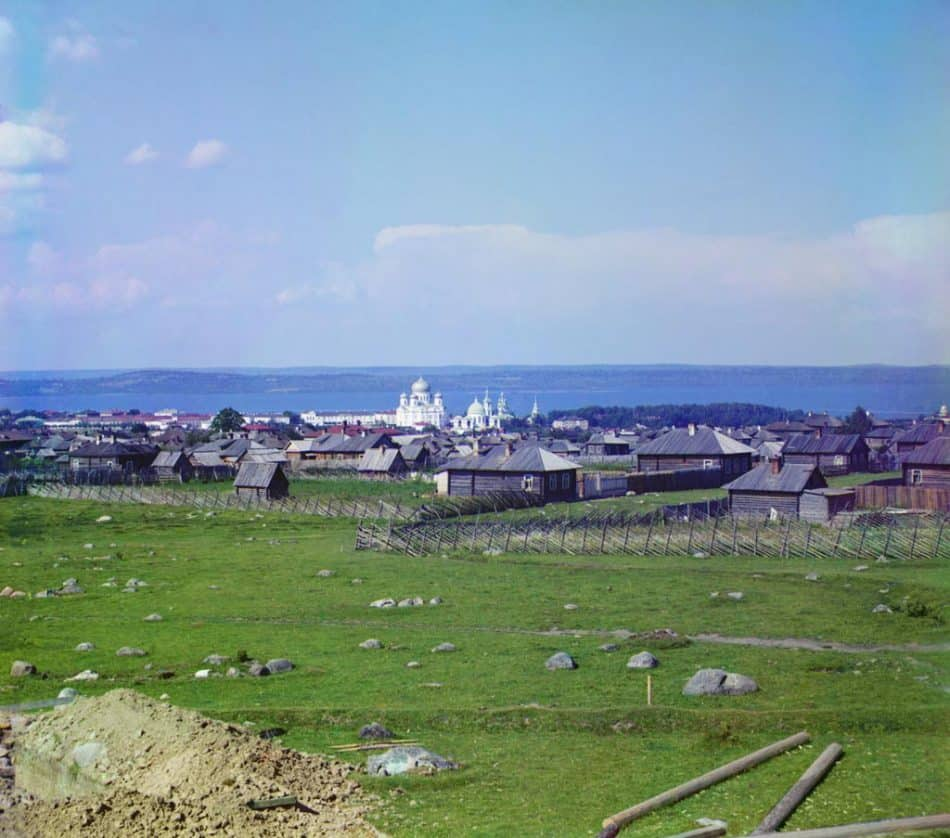 С.М. Прокудин-Горский. Петрозаводск. Общий вид. 1916 год