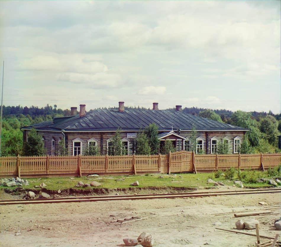 С.М. Прокудин-Горский. Земское училище в селе Кяппесельга. 1916 год