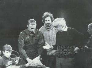 Юрий Зайончковский на записи телеспектакля