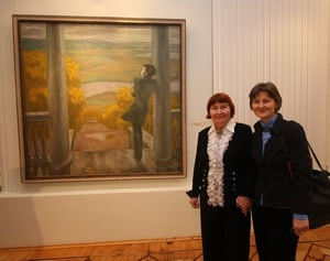 У картины Виктора Попкова ''Осенние дожди''