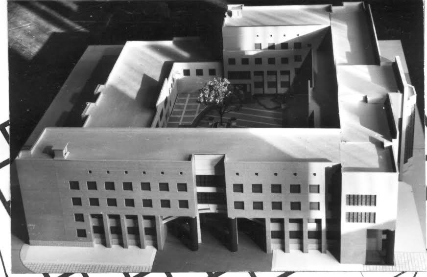Макет здания таможни. Архитекторы В. Власов и Л. Шеламов