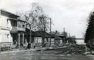 Улица Большая Слободская. Фото 1958 года