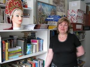 Маргарита Ниеми в офисе Русского клуба