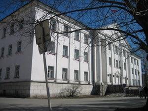 Здание райисполкома в Кондопоге. Архитектор А.Г. Барышников