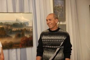 Олег Семененко на вернисаже 29 сентября