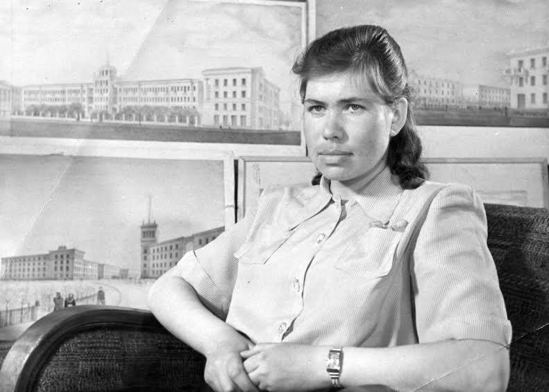 Эмилия Тентюкова в 1950 году