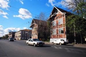 Ансамбль деревянных зданий в центре Петрозаводска