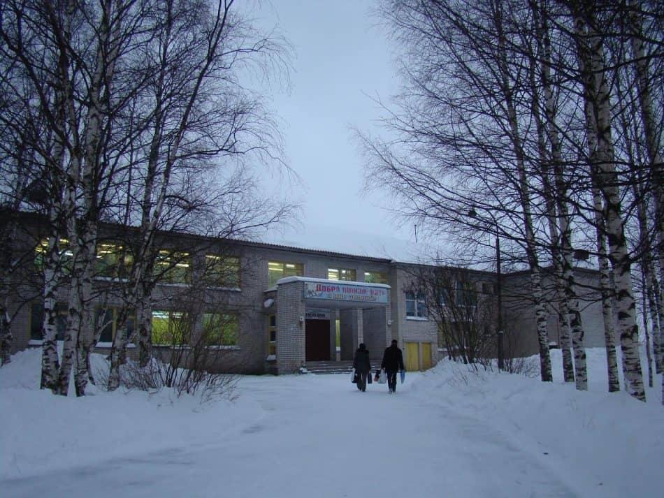 Березы у Святозерской школы. Фото Ирины Ларионовой