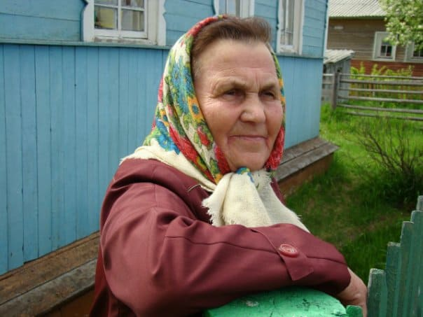 Лия Федоровна Попова. Коренная поморка, поет в хоре. Фото Ирины Ларионовой
