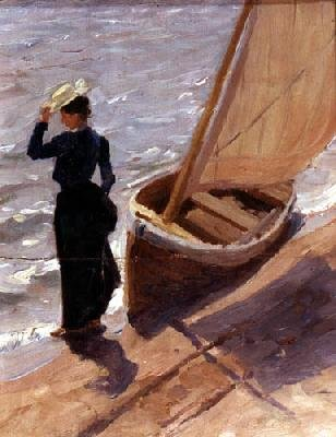 Жена художника. На берегу озера. 1910-е