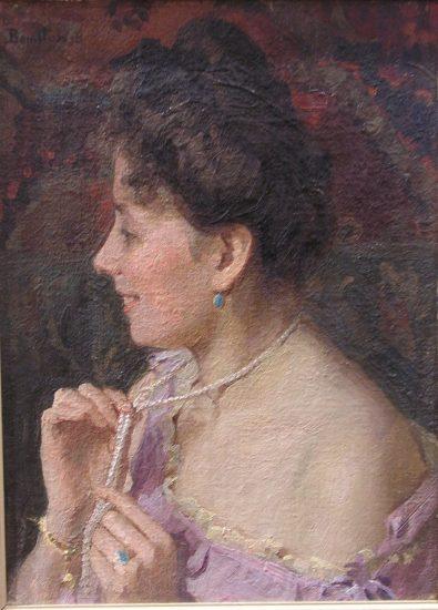 Портрет жены художника Н.А. Поповой. 1910-е