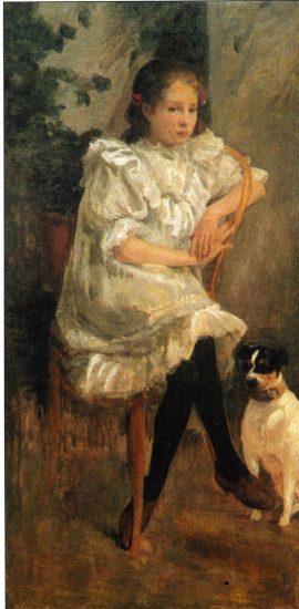 Девочка с собакой. 1896