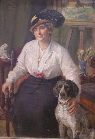 Портрет учительницы К.В. Шевелевой-Петцель. 1916