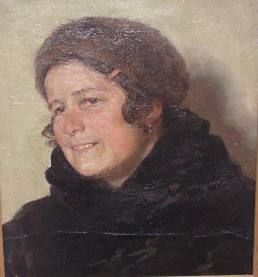 Портрет художницы К.Н. Осиповой. 1940-е