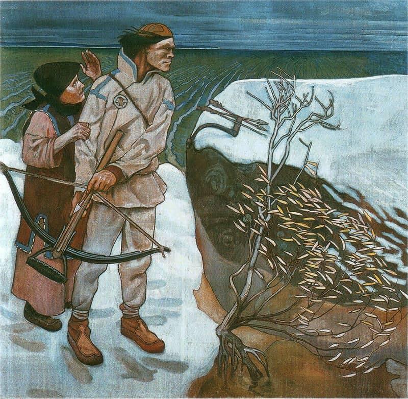 А. Галлен-Каллела. Месть Йоукахайнена.1897 год
