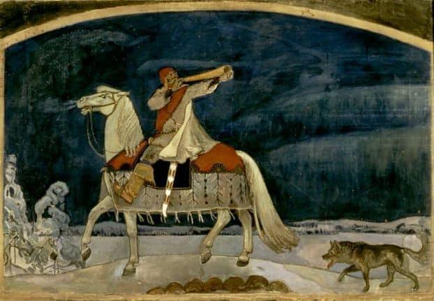 А. Галлен-Каллела. Уход Куллерво на войну. 1901, Атенеум