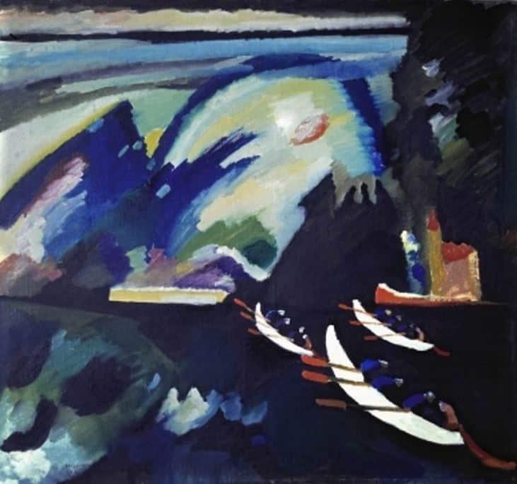 Василий Кандинский. Озеро. 1910 год