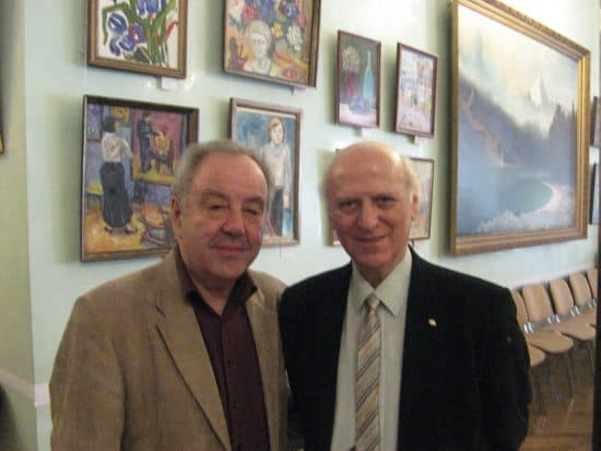 Шалва Амонашвили (справа) и Михаил Гольденберг
