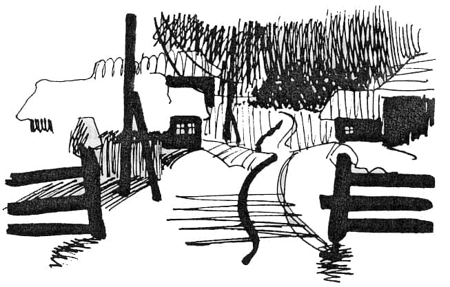 Карельская деревня зимой