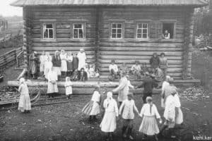 Старинное заонежское село Шуньга в 1926 году