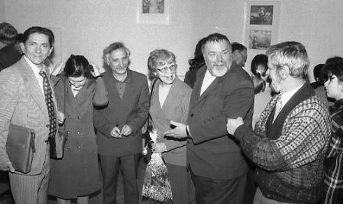 На открытии выставки в 1996 году
