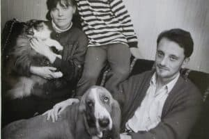Илья Соломещ с семьей. 1992 год. Фото Василия Петухова