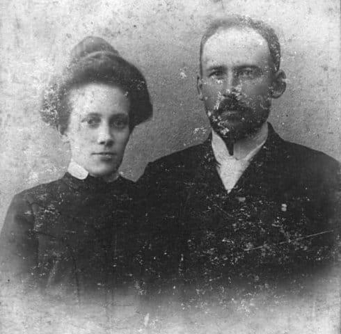 Мария Зиновьевна с мужем Георгием Майером