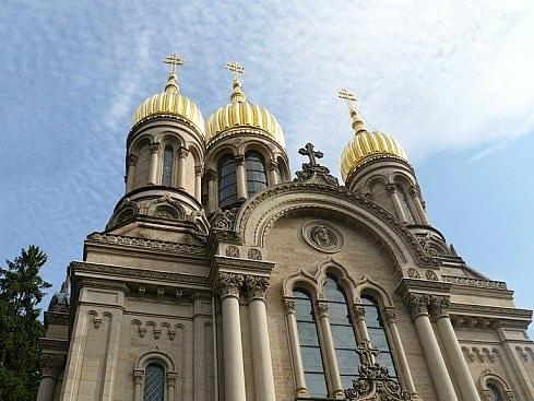 Церковь Праведной Елизаветы в Висбадене. Здесь отец Иоанн Янышев крестил Зиновия первого