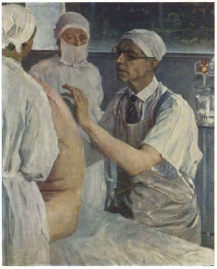 М.В.Нестеров. С.С.Юдин во время операции (1933), Государственный Русский музей