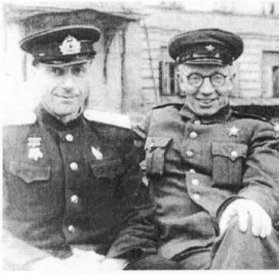С.С. Юдин (справа) и Б.А. Петров