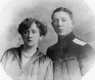 Сергей Юдин с женой. 1916 год
