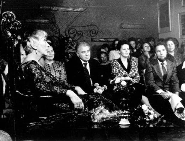 Людмила Живых на своем юбилее в Доме актера