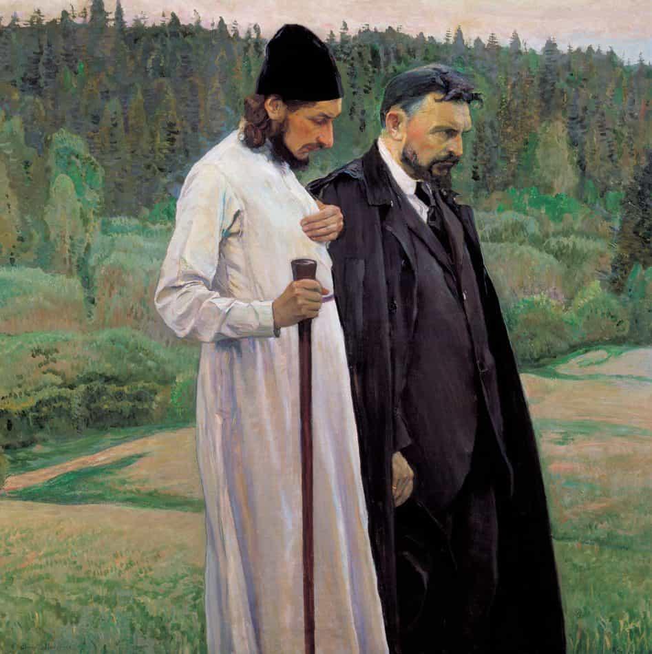 Михаил Нестеров. Философы П. Флоренский и С. Булгаков