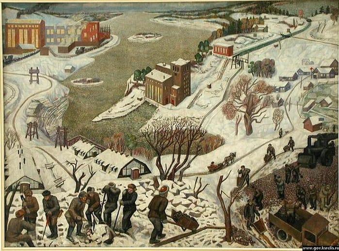 Михаил Цыбасов.. Кондострой. 1931