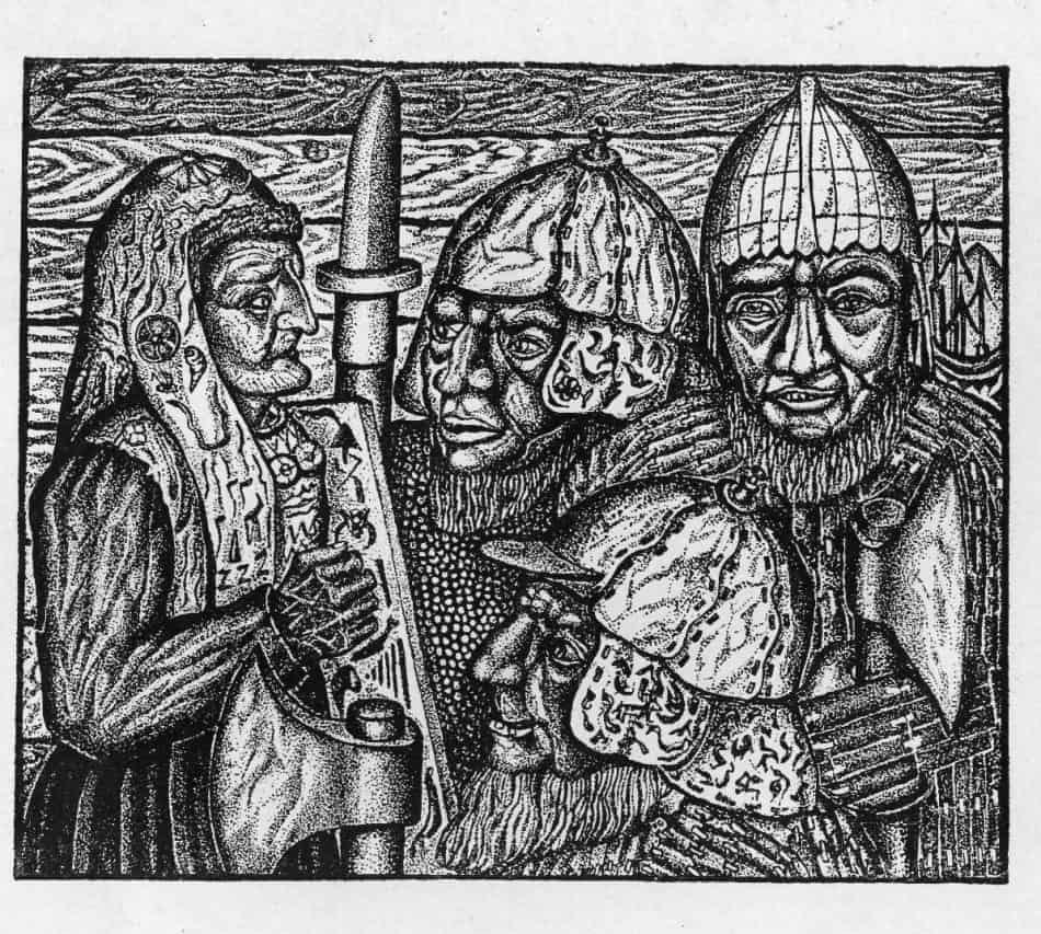 """Михаил Цыбасов. Иллюстрация к """"Калевале"""". 1931"""