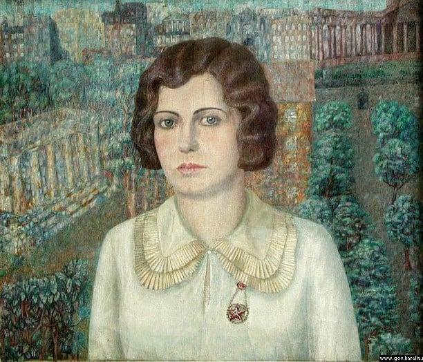 Михаил Цыбасов. Женский портрет (Ася). 1933 г.