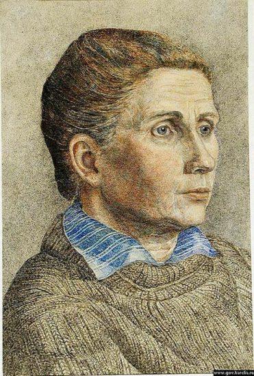 Михаил Цыбасов. Портрет матери. 1929