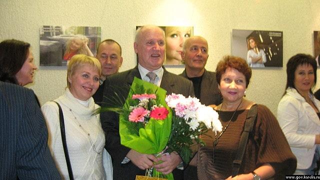 Леонид Авксентьев на вечере в Национальном театре