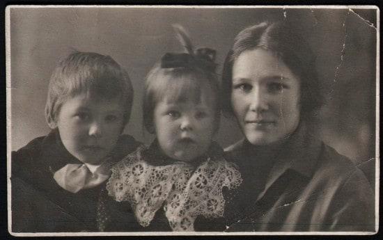 Моя мама с родными. Фото на память