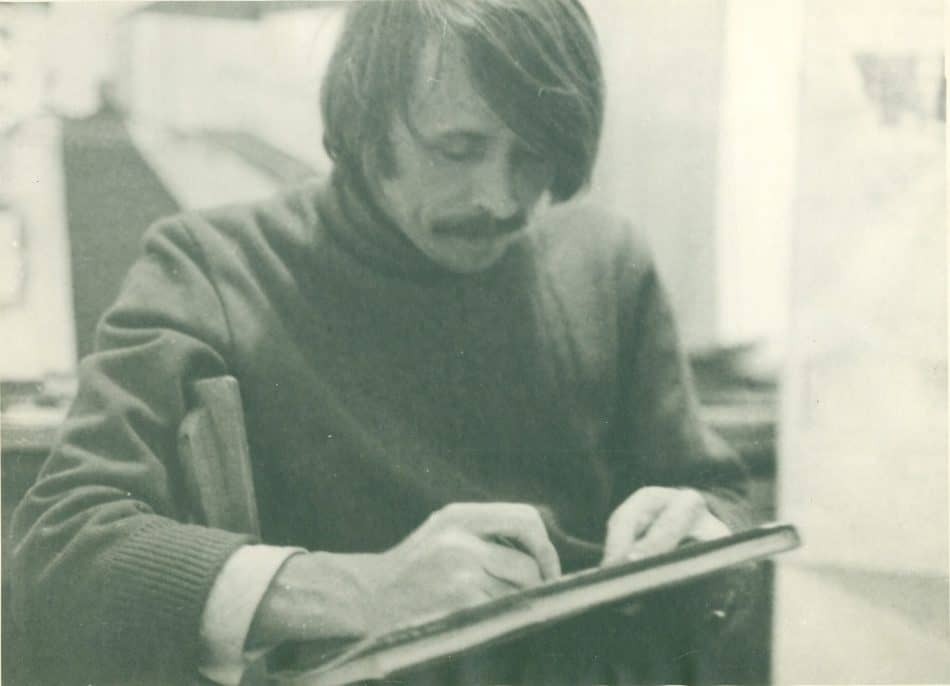 Александр Харитонов за работой