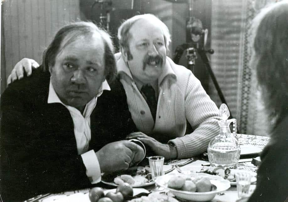 Михаил Швейцер и Евгений Леонов