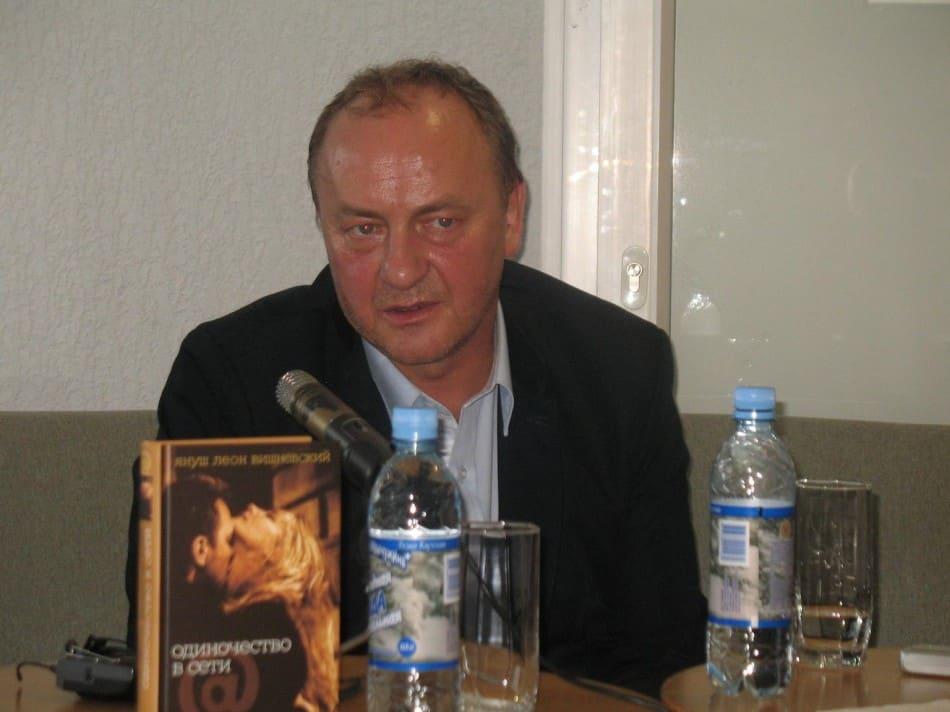 Януш Вишневский на пресс-конференции