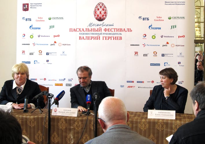 Валерий Гергиев на пресс-конференции в Музыкальном театре Карелии