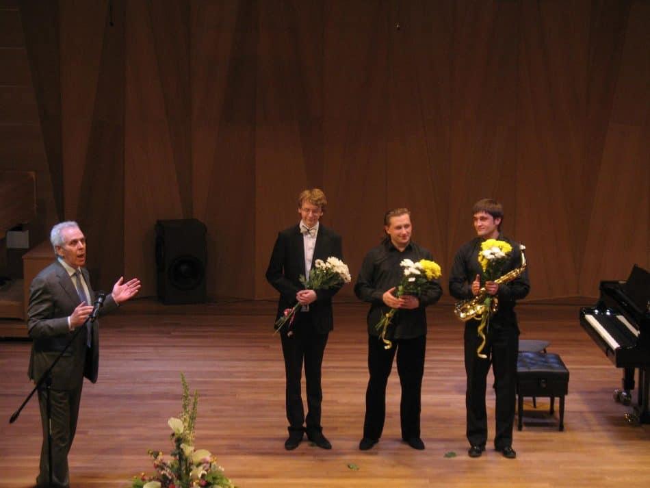 Слева направо: Виктор Горин, Сергей Редькин, Павел Милюков и Виталий Ватуля. Фото Натальи Мешковой