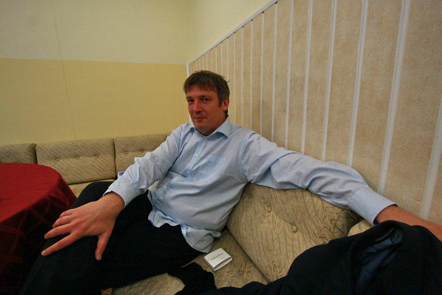 Борис Березовский в антракте. Фото: Владимир Ларионов