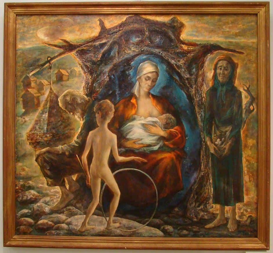 Все картины в местном музее были в тему