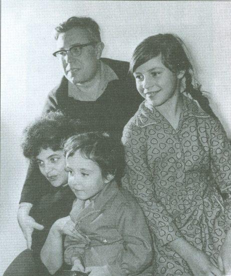 Борис Одлис с семьей
