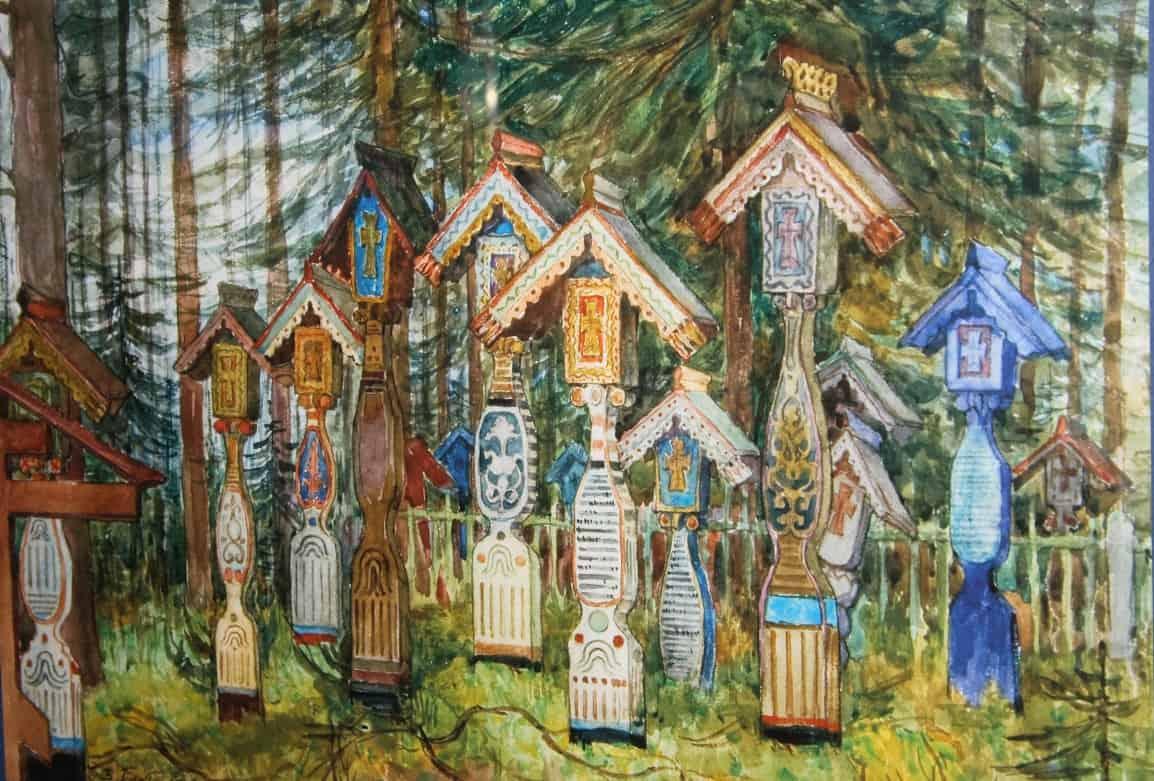 Плотников В. А. Старообрядческое кладбище в Кеми