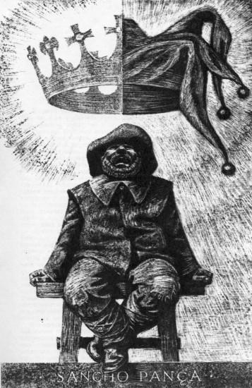 Савва Бродский. Иллюстрация. Санчо Панса